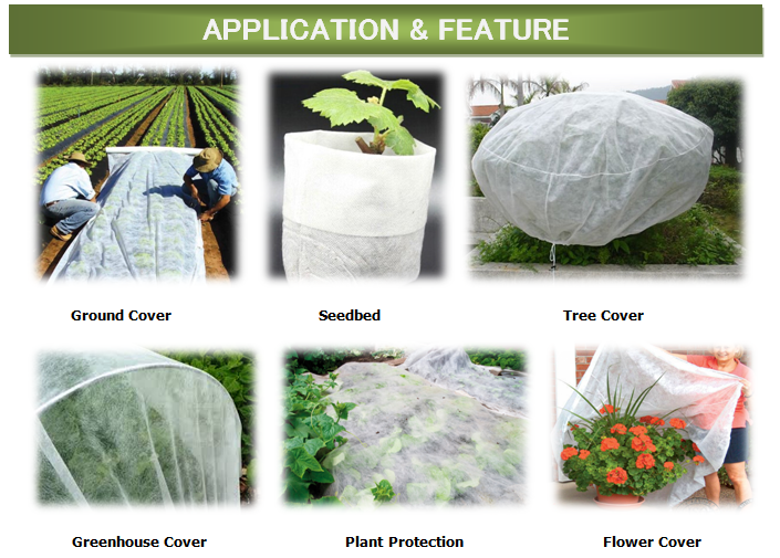 agriculture nonwoven fabric for plant cover