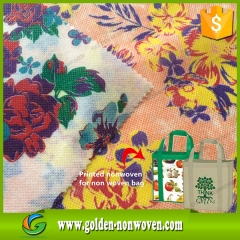 Logo Print Non woven Fabric Shopping Bag Material made by Quanzhou Golden Nonwoven Co.,ltd