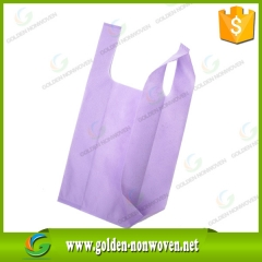 Waterproof T-shirt Non Woven Vest Shopping Bags