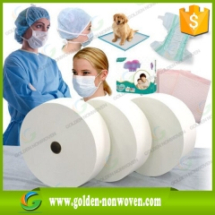 Medical Sanitary Pad SMMS Non-woven Fabric Roll