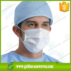 SMS Non Woven Medical Fabric Surgical Face Mask