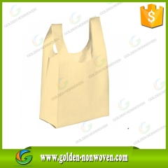 Non Woven T-Shirt Bags Manufacturer made by Quanzhou Golden Nonwoven Co.,ltd